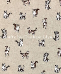 Fabric Chatham Glyn Linen Shabby Cats
