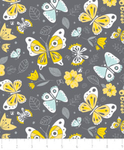 Fabric Camelot 6141801-3 Flutter Buzz Allover
