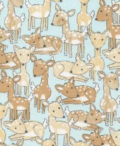 Fabric Timeless Treasures C4308 Aqua Deer