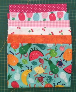 Bundles of 6 Quality Fabric Fat Quarters Fruity Friends
