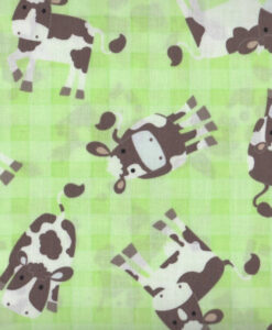Fabric Timeless Treasures C9941 Cows Green