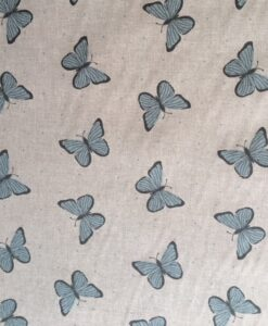 Fabric Chatham Glyn Linen Butterflies Blue