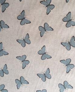 Fabric Chatham Glyn Linen Butterflies Blue