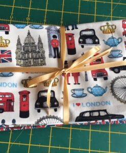 Bundles of 6 Quality Fabric Fat Quarters London Icons