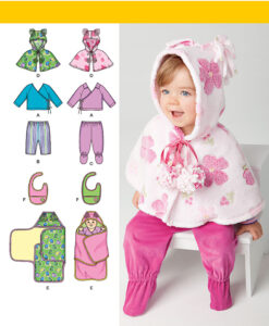 Simplicity Sewing Pattern 1564 A Baby Clothes & Accessories