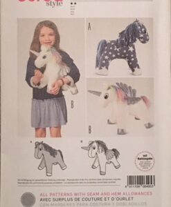 Burda Sewing Pattern 6495 Soft Toy Unicorn