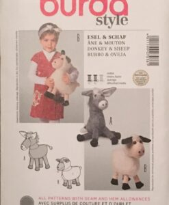 Burda Sewing Pattern 7038 Soft Toy Sheep/Donkey