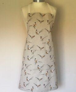 Apron Standard Adult Unsex Linen Pheasants