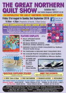 The Northern Quilt and Stitching Show, 31st August - 2nd September 2018