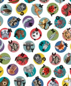 Fabric Hoffman Q4466 #130 Animals Alphabet Digital Printed