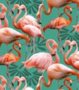 Fabric Patchwork Promotions Digitally Printed Flamingo's
