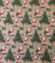 Fabric Patchwork Promotions Digitally Printed Santa & Tree