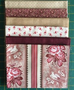 Bundles of 6 Quality Fabric Fat Quarters Tender Romance