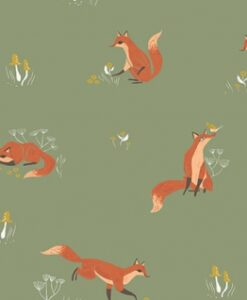 Fabric Dear Stella Superior Quality SRR1008 Aloe Fox