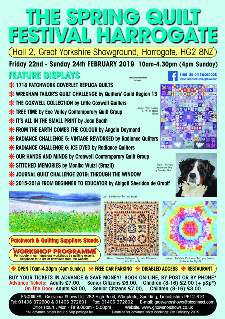 Spring Quilt Show, Harrogate 22nd-24th February 2019