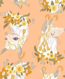 Fabric Dear Stella Superior Quality SRR1110 Cream Puff Lamas