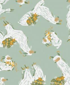 Fabric Dear Stella Superior Quality SRR1111 Lichen Lamas