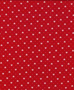 Fabric Makower UK Red Mini Hearts 567/R5