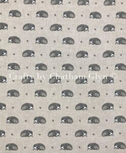 Fabric Chatham Glyn Linen Vintage Hedgehogs