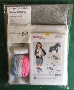 Sewing Kit Glitter Unicorn Burda Pattern 6495