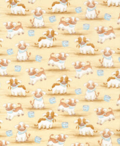 Fabric Timeless Treasures C5820 Cute Cows