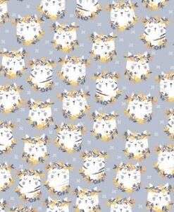 Fabric Dear Stella 1079 Groovy Cats Metal