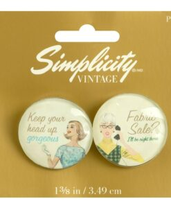 Simplicity Vintage Gift Range Campaign Buttons