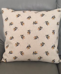 Cushion Individually Home Made Linen Digital Bees