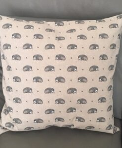 Cushion Individually Home Made Linen Vintage Hedgehog