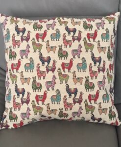 Cushion Individually Home Made Tapestry Little Lamas