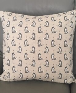 Cushion Individually Home Made Linen Vintage Fox