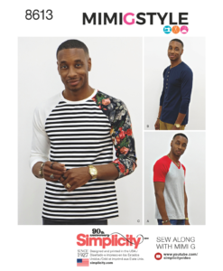 Sewing Pattern 8613 A Mens Long Sleeved Top