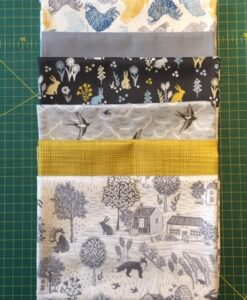 Bundles of 6 Quality Fabric Fat Quarters Groves Sulphur