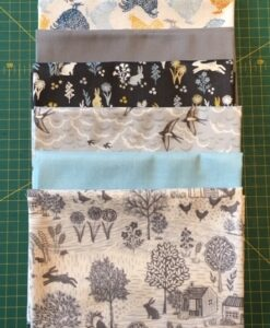 Bundles of 6 Quality Fabric Fat Quarters Groves Blue