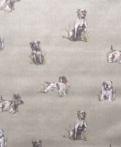 Fabric Fryett's Pooch Dogs Natural 100% Cotton Canvas