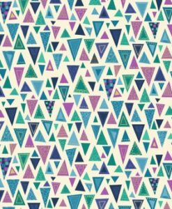 Fabric Makower UK Metallic Rhapsody Triangle Purple 2176/B