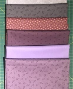 Bundles of 6 Quality Fabric Fat Quarters Purple/Grey Mix