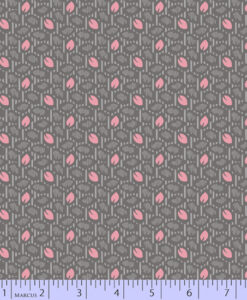 Fabric Marcus Geo Leaf Grey 0527-1044