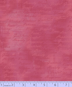 Fabric Marcus Grid Writing Pink 0528-1031