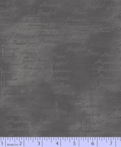 Fabric Marcus Grid Writing Dark Grey 0528-1043