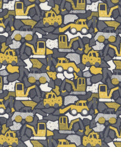 Fabric Dear Stella 195-1356 Diggers Grey & Yellow