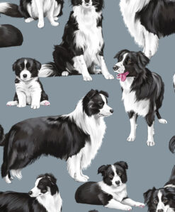 Fabric Timeless Treasures C7365 Border Collies