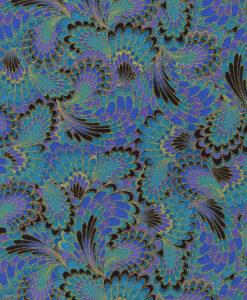 Fabric Timeless Treasures CM2213 Metallic Peacock Plumage