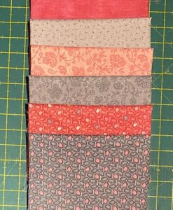 Bundles of 6 Quality Fabric Fat Quarters Marcus Pink/Grey