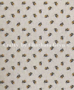 Fabric Chatham Glyn Linen Mini Bumble Bees Digital