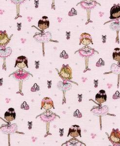 Fabric Timeless Treasures Glitter Ballerina CM3817