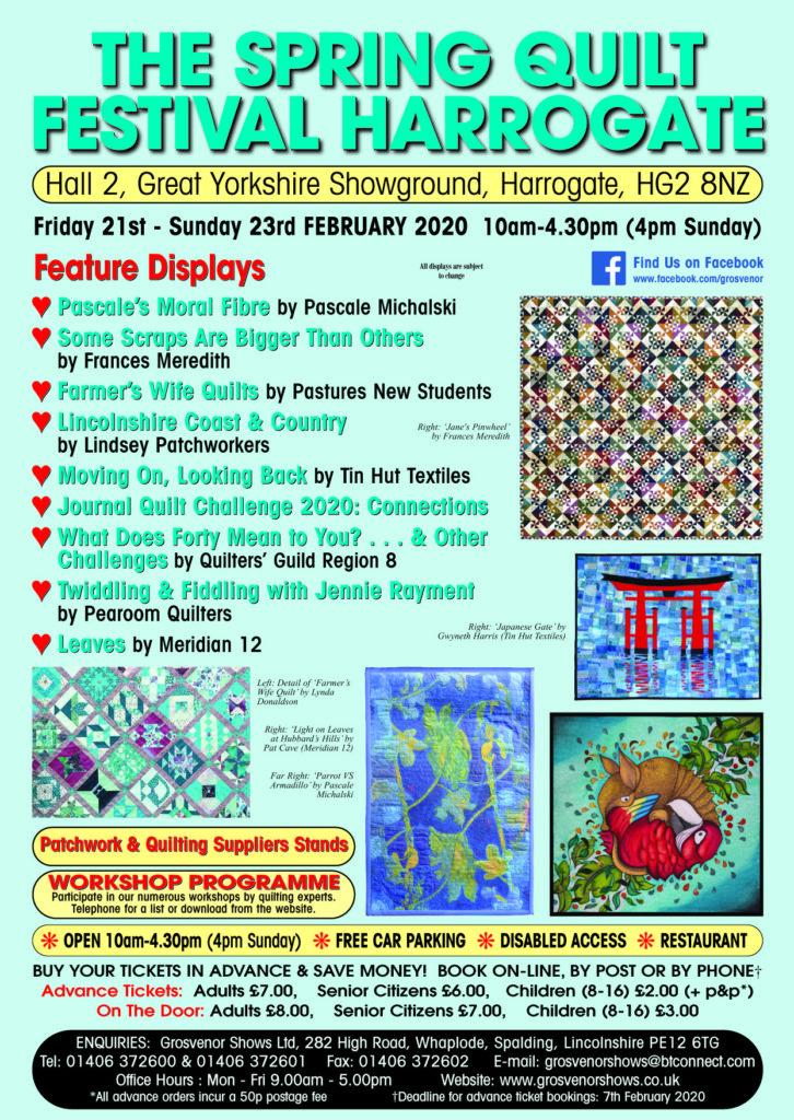 Spring Quilt Show, Harrogate 21st - 23rd February 2020