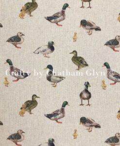 Fabric Chatham Glyn Linen Digital Mallard Ducks