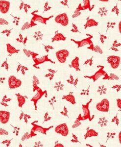 Fabric Makower UK Xmas Scandi Scatter Icons 2220/R