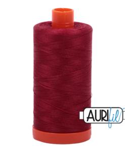 Aurifil 50WT Cotton Thread 1103 Dk Red 1300 m spool